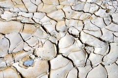Terra seca e rachada no ponto de Zabriskie Fotografia de Stock