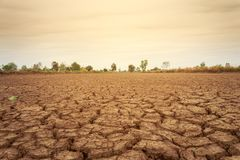 Terra seca em Tailândia imagem de stock