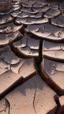 Terra secca ed incrinata Immagine Stock