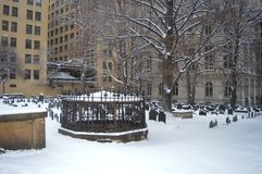 Terra seppellente della cappella del ` s di re a Boston, U.S.A. l'11 dicembre 2016 Fotografia Stock