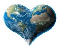 Terra - simbolo del cuore Immagine Stock