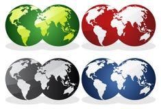 Terra sobre continentes. Fotografia de Stock