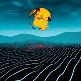 Terra sobre o horizonte linear Fotos de Stock