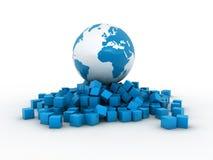 Terra sopra i cubi Fotografie Stock Libere da Diritti