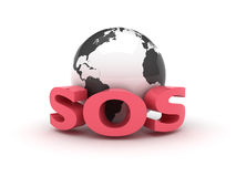 Terra SOS Immagini Stock Libere da Diritti