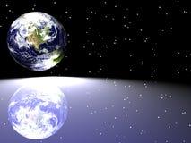 Terra/stella Scape Immagini Stock
