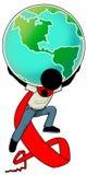 Terra sulla mia spalla royalty illustrazione gratis