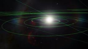 Terra Timelpase do planeta que revolve em torno do Sun com noite às transições do dia video estoque
