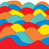 Terra Tone Polygon Technology Vector Background Fotografie Stock Libere da Diritti