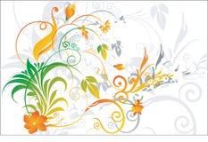 Terra traseira floral ilustração do vetor