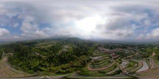 Terra tropicale dell'azienda agricola del paesaggio in Indonesia vr360 video d archivio