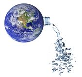Terra - um conceito do planeta da água fotografia de stock royalty free