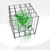 Terra in una gabbia Fotografie Stock Libere da Diritti