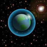 Terra-Universo Fotografia Stock Libera da Diritti