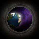 Terra veduta dallo spazio illustrazione di stock