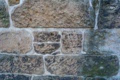 Terra velha da parte traseira da parede de pedra Fotos de Stock Royalty Free