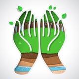 Terra verde à disposição ilustração royalty free