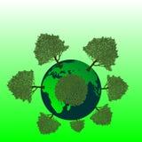 Terra verde Immagini Stock