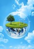 Terra verde illustrazione di stock
