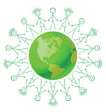 Terra verde ambientale Immagine Stock