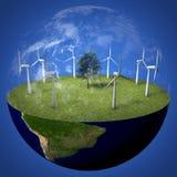 Terra verde do planeta Foto de Stock
