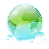 Terra verde ed acqua Fotografia Stock Libera da Diritti