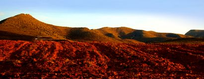 Terra vermelha Imagem de Stock