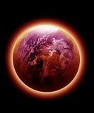Terra vermelha de incandescência Imagens de Stock Royalty Free