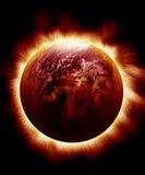 Terra vermelha Sparkling Fotografia de Stock