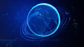 Terra virtual detalhada do planeta ilustração stock