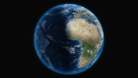Terra, vista da spazio cosmico illustrazione di stock
