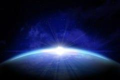 Terra vista do espaço ilustração do vetor