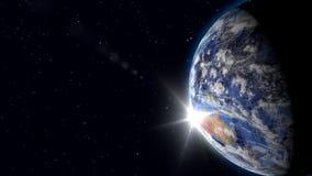 Terra vista do espaço video estoque