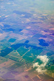 Terra. Vista superiore degli aerei. Immagini Stock