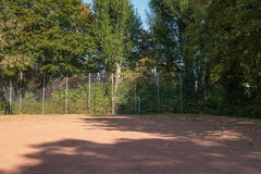 Terra vuota di calcio Fotografie Stock Libere da Diritti