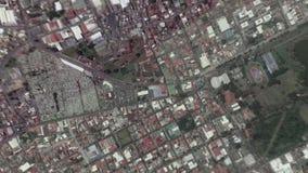 A terra zumbe dentro zumbido para fora de San Jose Costa Rica video estoque