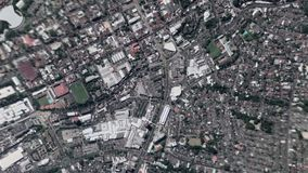 A terra zumbe dentro zumbido para fora de San Salvador El Salvador vídeos de arquivo