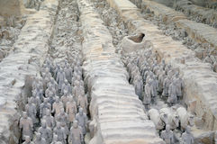 Terraccota army in Xi'an. China Royalty Free Stock Photos