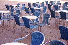 Terrace. An empty terrace, early in the morning, at a sunny day Royalty Free Stock Image