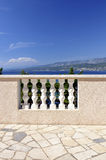Terrace. View from terrace over the Mediterranean sea Stock Photography