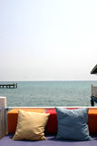 Terrace. On the sea stock photography