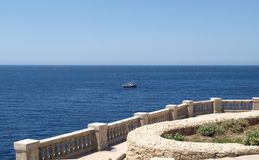 Terrace above The Blue Grotto of Malta. Europe - Landmark for its blue or azure waters Royalty Free Stock Images