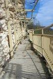 Terrace of aladja rocky monastery Royalty Free Stock Photo