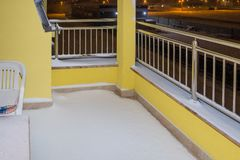 Terrace covered by snow royalty free stock photo