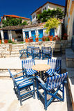 Terrace in Aphitos Stock Photos