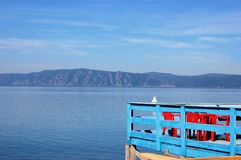 Terrace with Baikal lake Coast View, Siberia Stock Image