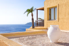 Terrace and balcony with beautiful sea view Stock Photos