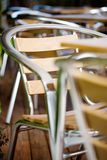 Terrace of a bar. Tables and chairs in the terrace of a bar Stock Photo
