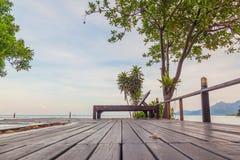 Terrace bar resort in tropical sea beach at Koh Chang Royalty Free Stock Photography