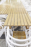 Terrace bar tables Royalty Free Stock Photography